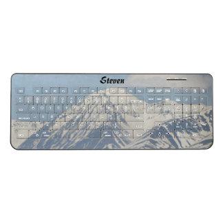 Beautiful Snow On Mountain Wireless Keyboard