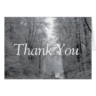Beautiful Snow Scene Thank You Note Card