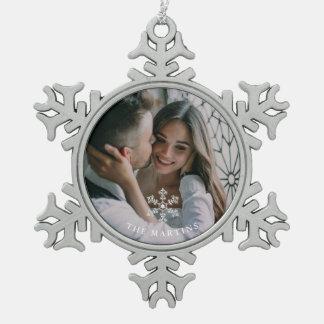 Beautiful Snowflake and Name Photo Ornament