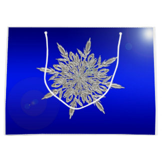 Beautiful Snowflake Large Gift Bag