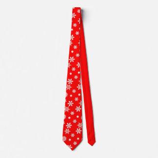Beautiful Snowflake Pattern Christmas Tie