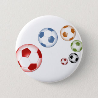 Beautiful soccer (football) set of balls 2 inch round button
