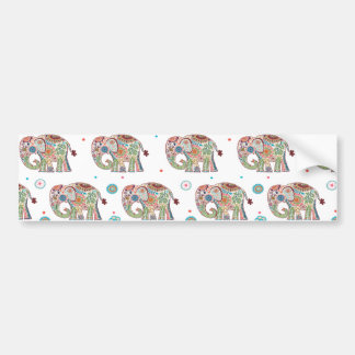 Beautiful soft and colourful elephants flowers bumper sticker