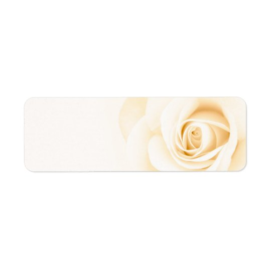 Beautiful soft cream ivory rose flower floral return address label