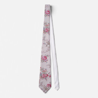 Beautiful soft vintage roses and leaves tie