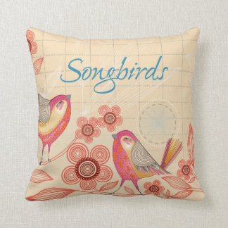 Beautiful Songbirds Throw Pillow
