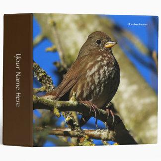 Beautiful Sooty Fox Sparrow in a Pear Tree Vinyl Binder