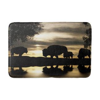 Beautiful Southwestern Bathmat featuring Buffaloes
