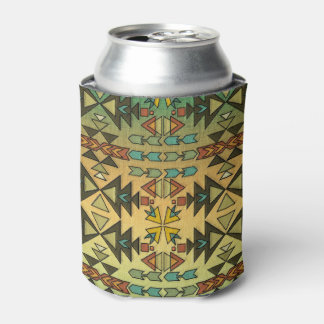Beautiful Southwestern Pattern, Ombre Can Cooler