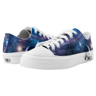Beautiful Space Galaxy Low-Top Sneakers