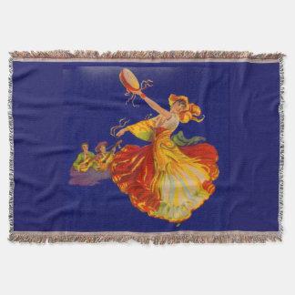 beautiful Spanish dancer Throw Blanket