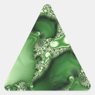 Beautiful Spearmint Fractal Lace Triangle Sticker
