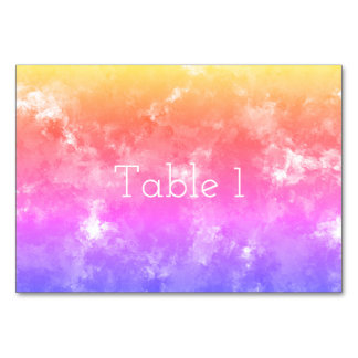 Beautiful Sponge Print Table Cards