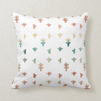 Beautiful Spring Abstract Watercolors Throw Pillow