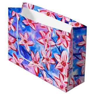 Beautiful Spring Blossom Watercolour Gift Bag