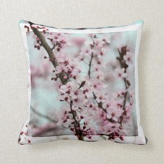 Beautiful Spring Cherry Blossom Throw Pillow