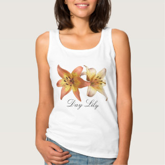Beautiful Spring Flower Day Lily Womens Tank