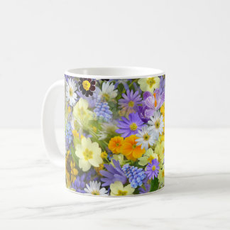 Beautiful Spring Meadow Flowers Coffee Mug