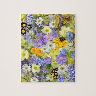 Beautiful Spring Meadow Flowers Jigsaw Puzzle