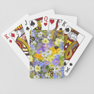 Beautiful Spring Meadow Flowers Playing Cards
