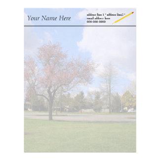 Beautiful spring park landscape photography letterhead