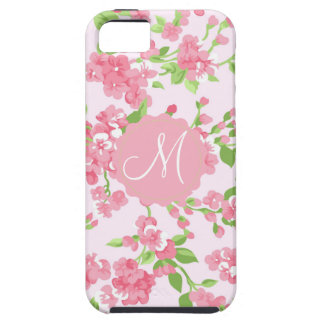 Beautiful Spring pink watercolor peach flowers iPhone 5 Case