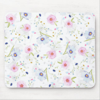 Beautiful Spring watercolor flowers by storeman. Mouse Pad