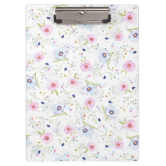 Beautiful Spring watercolor flowers Clipboard
