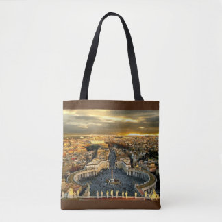 Beautiful St. Peter Square,All-Over-Print Tote Bag