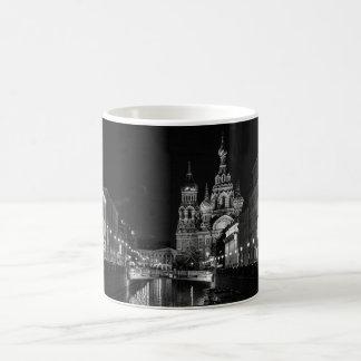 Beautiful St Petersburg Russia Black and White Mug