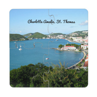 Beautiful St. Thomas USVI Drink Coaster Puzzle