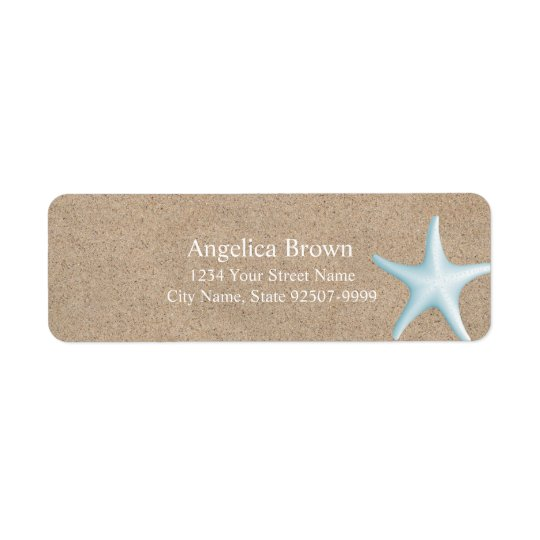 Beautiful Starfish Return Address Label