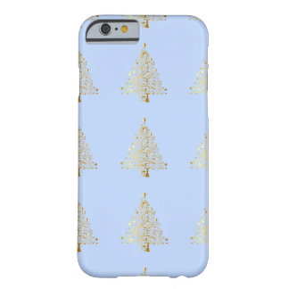 Beautiful starry metallic gold Christmas tree Barely There iPhone 6 Case