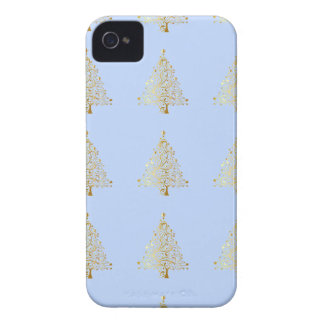 Beautiful starry metallic gold Christmas tree iPhone 4 Covers