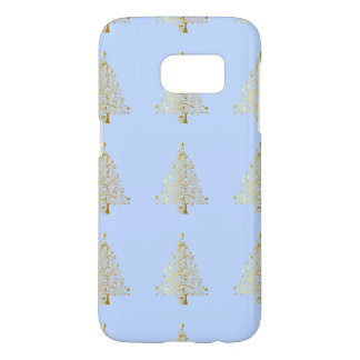 Beautiful starry metallic gold Christmas tree Samsung Galaxy S7 Case