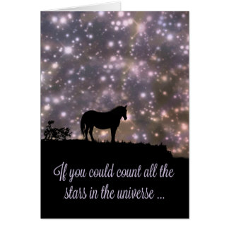 Beautiful Stars and Horse Thinking of You Card