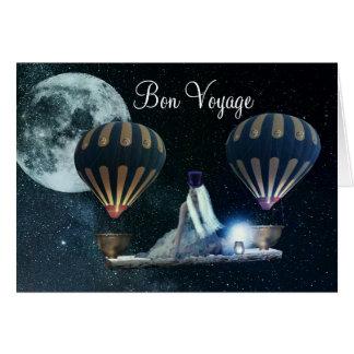 Beautiful Steampunk Traveller Bon Voyage Card