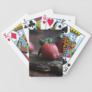Beautiful Strawberries Bicycle Playing Cards