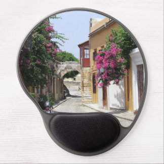 Beautiful Street in Old Rhodes Town Gel Mousepad