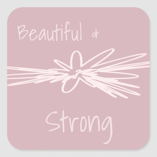 Beautiful & Strong Stickers