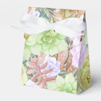 Beautiful Succulents Plants   Floral Wedding Favor Boxes