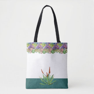 Beautiful Succulents Wedding Tote Bag