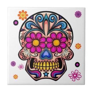 Beautiful Sugar Skull Tile