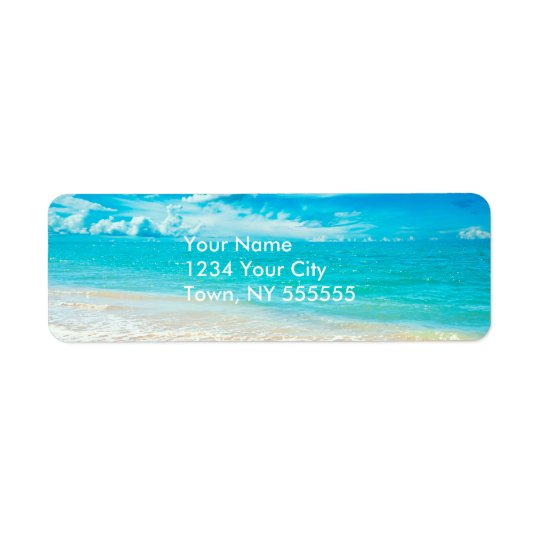 Beautiful Summer Beach Return Address Label