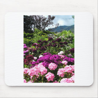 Beautiful summer garden in BC Canada Mouse Pad