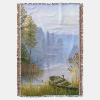 Beautiful Summer Painting Woven Throw Blanket