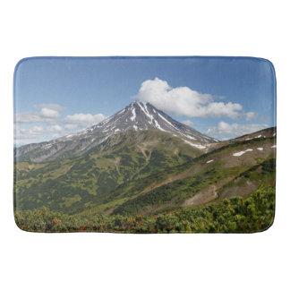 Beautiful summer panorama volcanic landscape bathroom mat