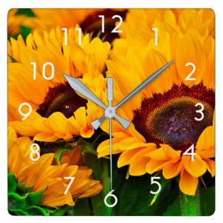 Beautiful Summer Sunflower Painting Clock