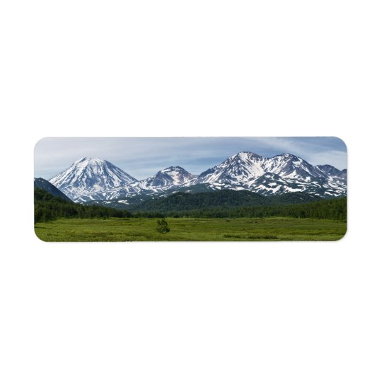 Beautiful summer volcanic landscape of Kamchatka