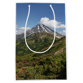 Beautiful summer volcano landscape medium gift bag